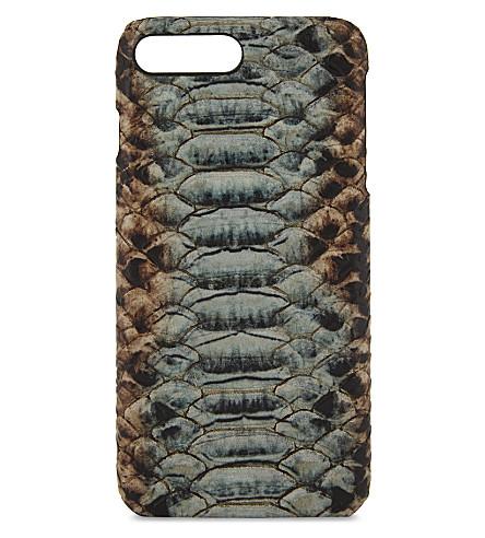 THE CASE FACTORY眼镜蛇效应皮革 iPhone 7 Plus/8 加壳 (多色