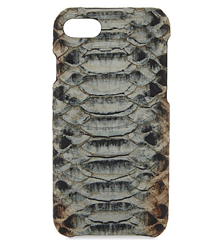 THE CASE FACTORY Cobra-embossed leather iPhone 7/8 case (Multicolor