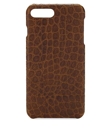 THE CASE FACTORY鳄鱼浮雕皮革 iPhone 7 Plus/8 加箱 (干邑