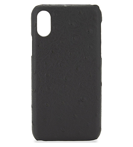 THE CASE FACTORY Ostrich-embossed iPhone X case (Ostrich+black