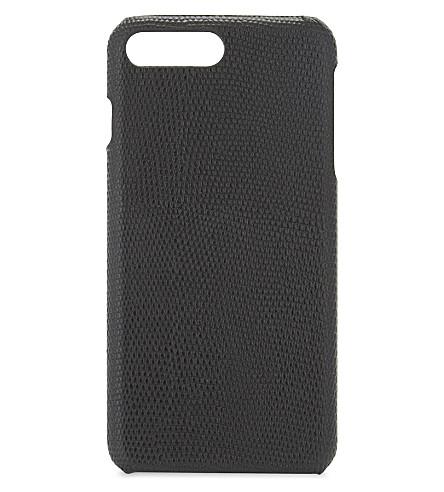 THE CASE FACTORY Lizard-embossed iPhone 7 plus/ iPhone 8 plus case (Lizard+black