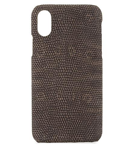 THE CASE FACTORY鬣蜥浮雕皮革 iPhone X 壳 (Safot + 鬣蜥 + 泥