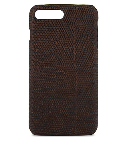 THE CASE FACTORY Lizard effect iPhone 7 Plus/8 Plus case (Brown
