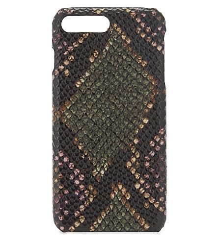 THE CASE FACTORY Python-embossed iPhone 7 plus/8 plus case (Python+multicolour