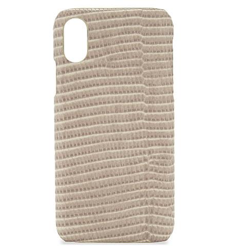 案例工厂文卡特斯瓦兰软壳面料皮革 iPhone X 壳 (Viran + 软壳面料