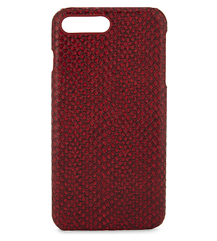 THE CASE FACTORY Viper effect leather iPhone 7 Plus/8 Plus case (Viper+red