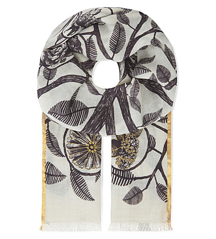INOUITOOSH Arbre wool scarf (Natural