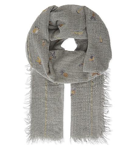 INOUITOOSH Cueillette wool scarf (Gld/slvr