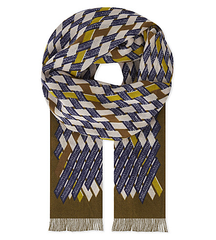 INOUITOOSH Dominique wool scarf (Khaki