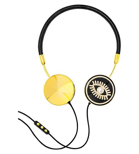 FRENDS HEADPHONES Layla black and gold evil eye on-ear headphones (Bk/gld/bbee