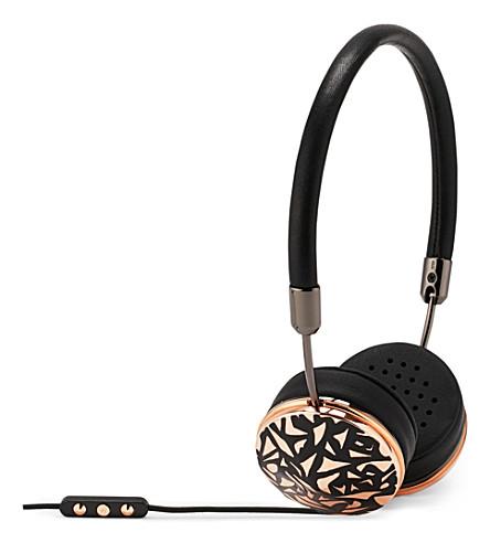 FRENDS HEADPHONES Layla rose black mosaic on-ear headphones (Gunmtl/rs/bkmsc