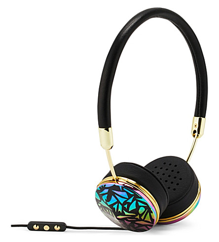 FRENDS HEADPHONES Laylor mosaic on-ear headphones (Bklea/pgld/osbkmsc