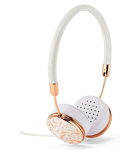 FRENDS HEADPHONES Layla rose white mosaic on-ear headphones (Rg/rose/whtmsc