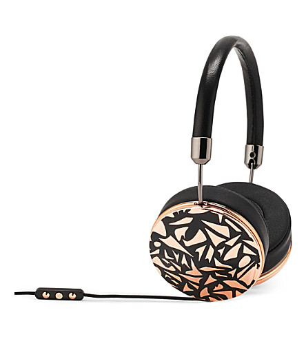 FRENDS HEADPHONES Taylor silver black mosaic on-ear headphones (Gunmtl/rosebkmsc
