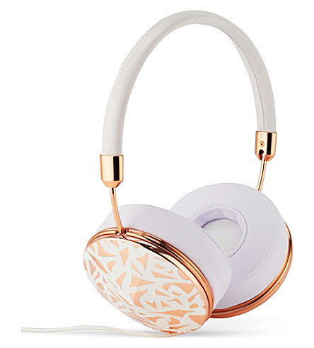 FRENDS HEADPHONES Taylor silver white mosaic on-ear headphones (Whtrg/rosewhtmsc