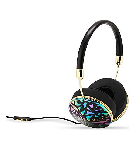 FRENDS HEADPHONES Taylor silver oil slick mosaic on-ear headphones (Bklea/pgld/osbkmsc