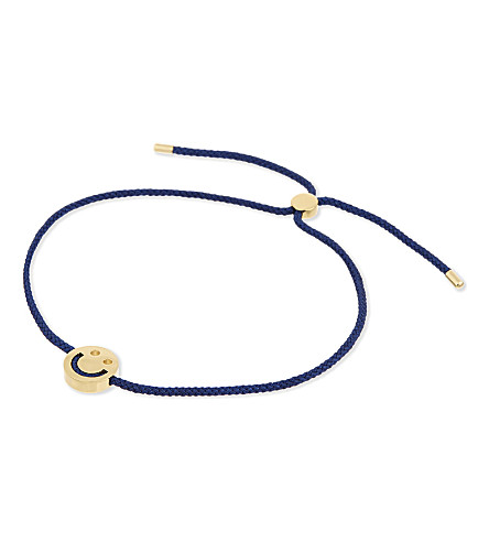 RUIFIER Happy 18kt yellow gold vermeil bracelet (Yg+navy