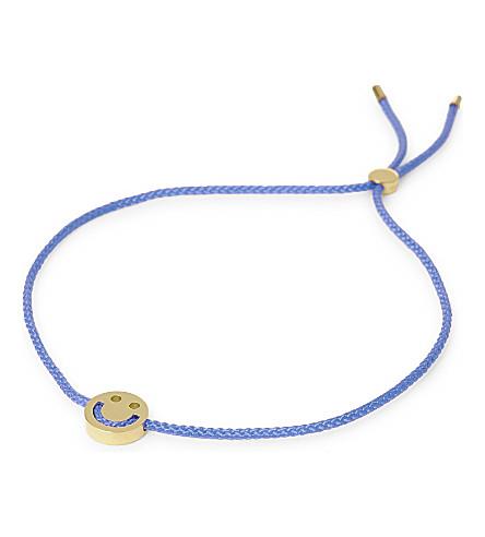 RUIFIER Happy cord bracelet (Gld/duskyblue