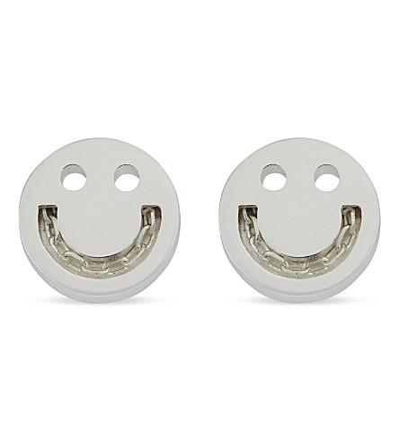 RUIFIER Friends Happy Chain sterling silver stud earrings (Silver