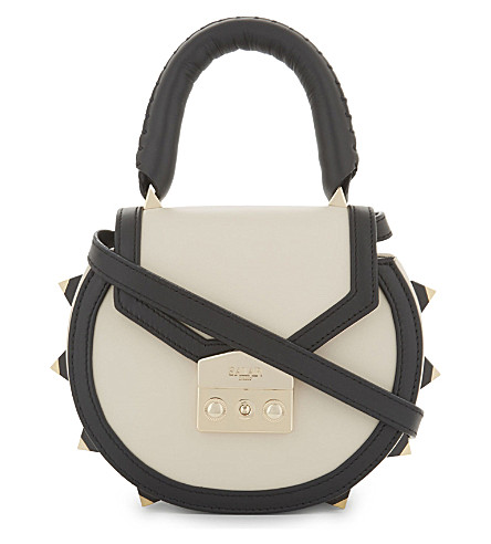 SALAR Mimi Bold leather cross-body bag (Black/ice