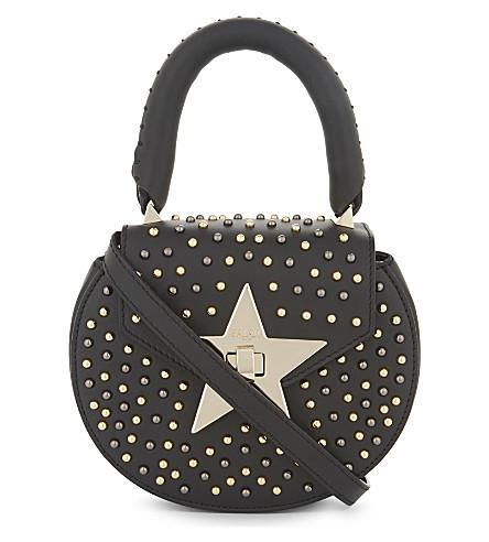 SALAR Mimi Star leather cross-body bag (Black