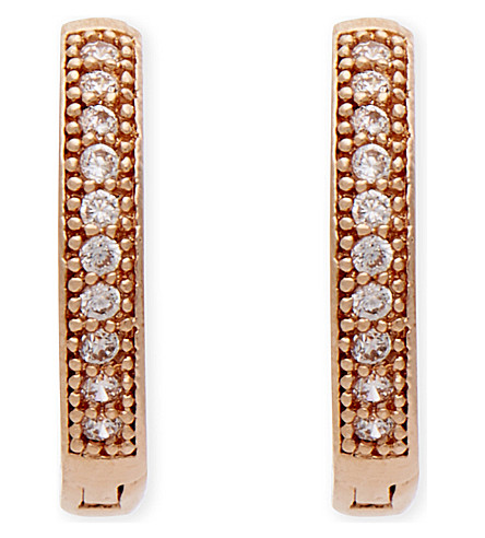 ASTRID & MIYU The Perfect One rose gold earrings (18k+rose+gold