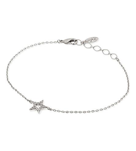 ASTRID & MIYU New Tricks rhodium star bracelet (Rhodium