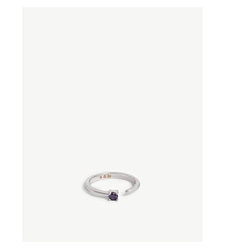 ASTRID & MIYU Aquarius Zodiac ring (Rhodium