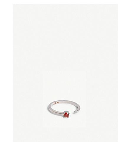 ASTRID & MIYU Capricorn Zodiac ring (Rhodium