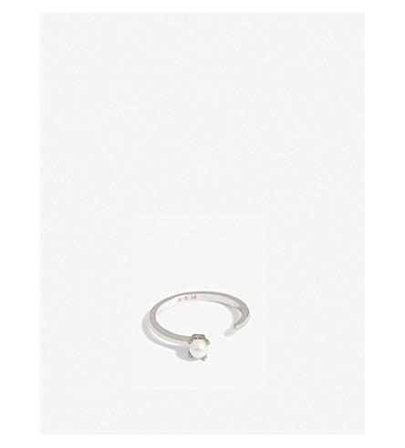 ASTRID & MIYU Gemini Zodiac ring (Rhodium