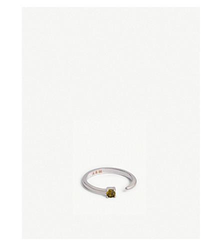 ASTRID & MIYU Leo Zodiac ring (Rhodium