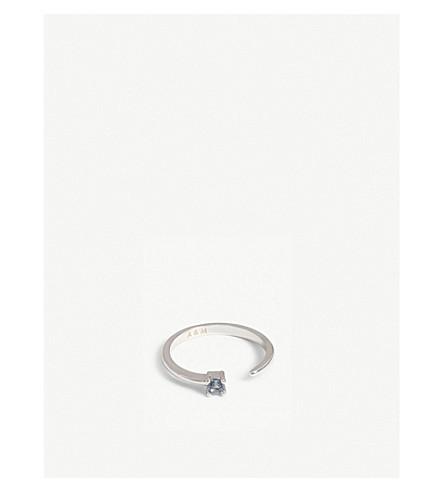 ASTRID & MIYU Pisces Zodiac ring (Rhodium