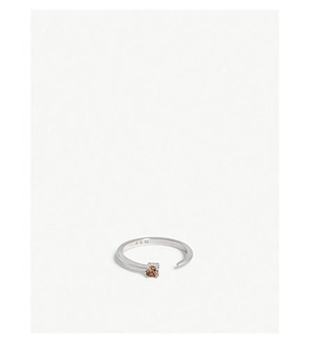 ASTRID & MIYU Scorpio Zodiac ring (Rhodium