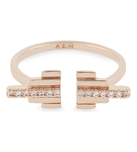 ASTRID & MIYU Fitzgerald Pyramid rose gold ring (18k+rose+gold