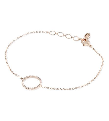 ASTRID & MIYU Tuxedo rose gold circle bracelet (18k+rose+gold