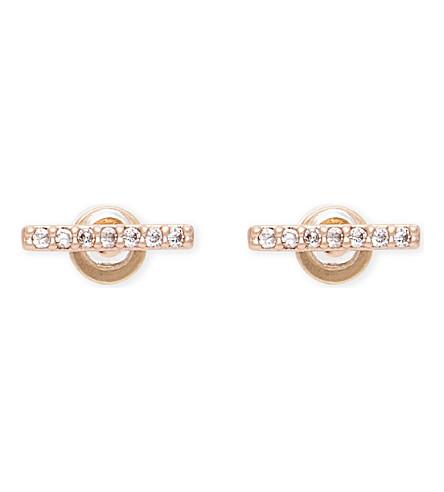 ASTRID & MIYU Hold On small rose gold earrings (18k+rose+gold