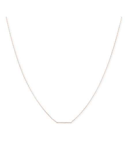 ASTRID & MIYU Walk The Line small rose gold necklace (18k+rose+gold