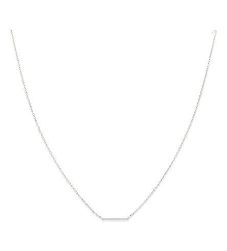 ASTRID & MIYU Walk The Line small rhodium necklace (Rhodium
