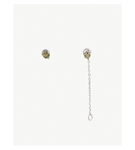 ASTRID & MIYU Leo Zodiac earrings (Rhodium