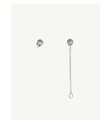 ASTRID & MIYU Pisces Zodiac earrings (Rhodium