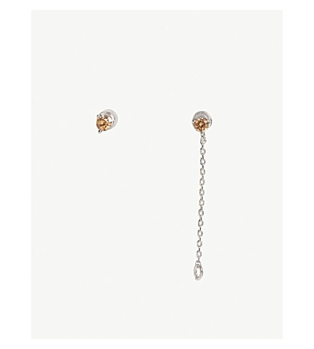 ASTRID & MIYU Scorpio Zodiac earrings (Rhodium