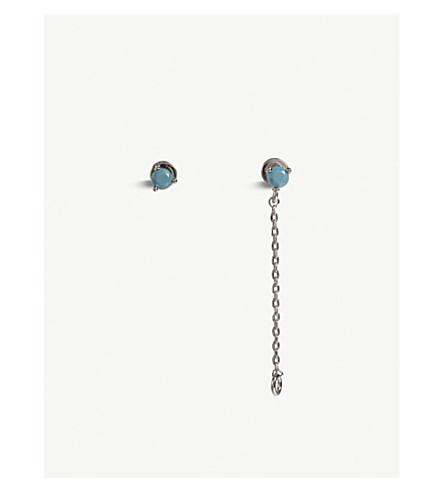 ASTRID & MIYU Sagittarius zodiac stud earrings (Rhodium