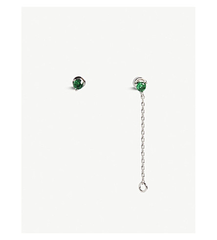 ASTRID & MIYU Taurus Zodiac stud earrings (Rhodium