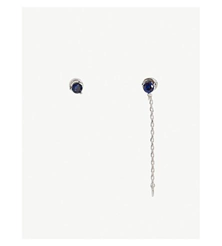 ASTRID & MIYU Virgo Zodiac earrings (Rhodium