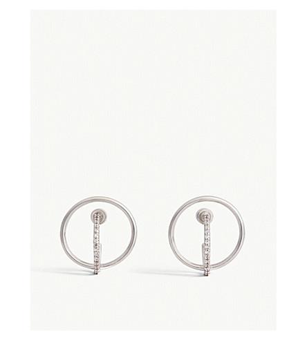 ASTRID & MIYU 汞耳环 (铑