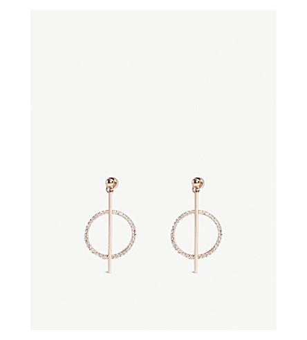 ASTRID & MIYU 金星下落耳环 (玫瑰色 + 金子