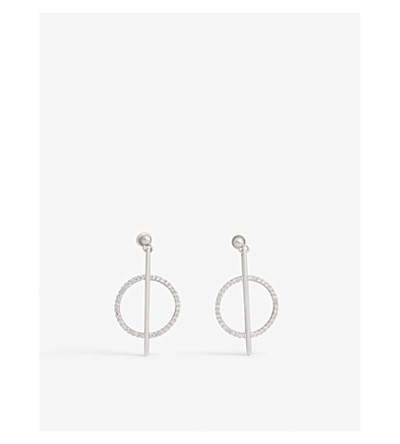 ASTRID & MIYU Venus earrings (Rhodium
