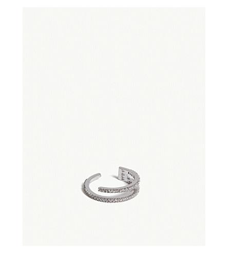 ASTRID & MIYU Wishbone ring (Rhodium