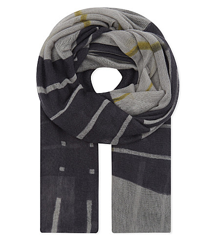 DIANORA SALVIATI Laerte patterned scarf (Black