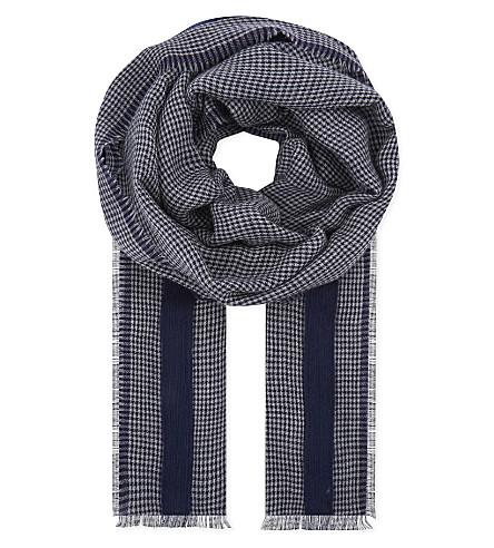 DIANORA SALVIATI Desdemona checked scarf (Blue